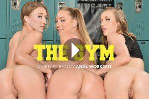 The Gym - A Virtual Reality Anal Workout - AJ Applegate VR Porn - Karla Kush VR Porn - Riley Reyes VR Porn