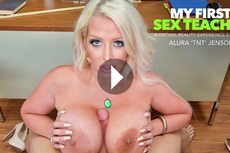 My First Sex Teacher - Alura 'TNT' Jenson VR Porn - Alura 'TNT' Jenson Virtual Reality Porn - Alura 'TNT' Jenson Stockings