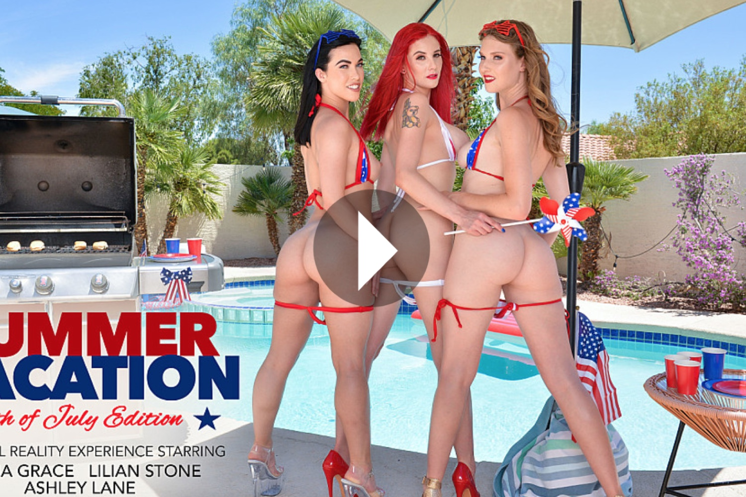 Summer Vacation - 4th of July Edition - Ashley Lane VR Porn - Ashley Lane Virtual Reality Porn - Lilian Stone VR Porn - Lilian Stone Virtual Reality Porn - Diana Grace VR Porn - Diana Grace Virtual Reality Porn