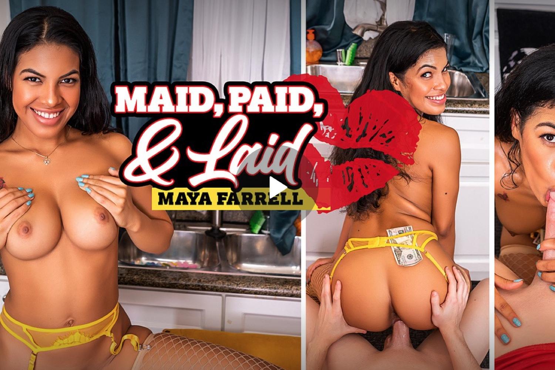 Maid Paid and Laid - Maya Farrell VR Porn - Maya Farrell Virtual Reality Porn - Maya Farrell Stockings