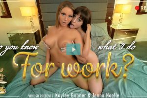 Do You Know What I Do For Work - Jenna Noelle VR Porn - Jenna Noelle Virtual Reality Porn - Kayley Gunner VR Porn - Kayley Gunner Virtual Reality