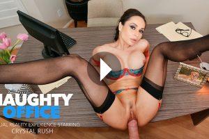 Naughty Office - Crystal Rush VR Porn - Crystal Rush Virtual Reality Porn - Crystal Rush Stockings