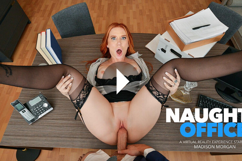 Naughty Office - Madison Morgan VR Porn - Madison Morgan Virtual Reality Porn - Maison Morgan Stockings - Secretary